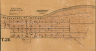 Summerset Village, Waltz, Indiana 1861 Old Town Map Custom Print  Wabash Co.