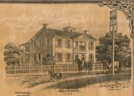 Keller House, Largo, Indiana 1861 Old Town Map Custom Print  Wabash Co.
