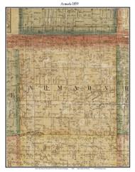 Armada, Michigan 1859 Old Town Map Custom Print - Macomb Co.