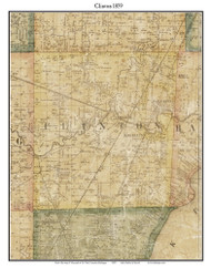 Clinton, Michigan 1859 Old Town Map Custom Print - Macomb Co.