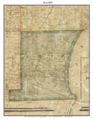 Erin, Michigan 1859 Old Town Map Custom Print - Macomb Co.
