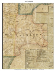 Harrison, Michigan 1859 Old Town Map Custom Print - Macomb Co.