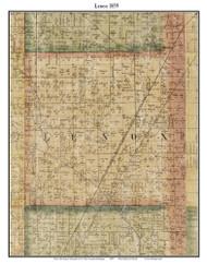 Lenox, Michigan 1859 Old Town Map Custom Print - Macomb Co.