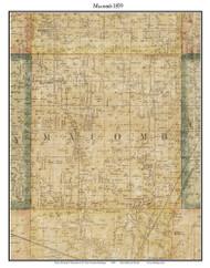 Macomb, Michigan 1859 Old Town Map Custom Print - Macomb Co.