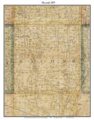 Macomb, Michigan 1859 Old Town Map Custom Print - Macomb Co.