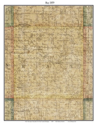 Ray, Michigan 1859 Old Town Map Custom Print - Macomb Co.