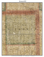 Richmond, Michigan 1859 Old Town Map Custom Print - Macomb Co.