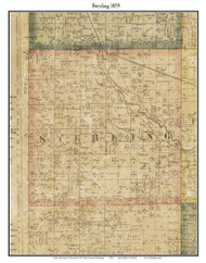 Sterling, Michigan 1859 Old Town Map Custom Print - Macomb Co.