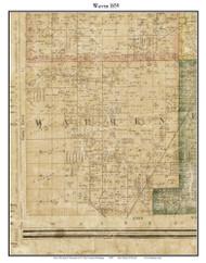 Warren, Michigan 1859 Old Town Map Custom Print - Macomb Co.