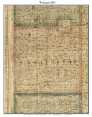 Washington, Michigan 1859 Old Town Map Custom Print - Macomb Co.