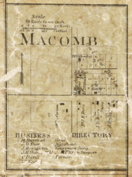Macomb Village, Macomb, Michigan 1859 Old Town Map Custom Print - Macomb Co.
