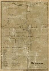 Memphis Village, Richmond, Michigan 1859 Old Town Map Custom Print - Macomb Co.