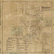 Romeo Village, Bruce & Washington, Michigan 1859 Old Town Map Custom Print - Macomb Co.