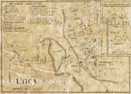Utica Village, Shelby, Michigan 1859 Old Town Map Custom Print - Macomb Co.