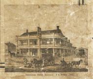 American House, Romeo, Bruce & Washington, Michigan 1859 Old Town Map Custom Print - Macomb Co.