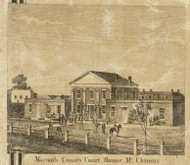 Macomb County Court House, Mt. Clemens, Clinton, Michigan 1859 Old Town Map Custom Print - Macomb Co.