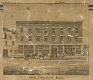 North Brick Block, Romeo, Bruce & Washington, Michigan 1859 Old Town Map Custom Print - Macomb Co.