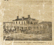 Phelps House, Mt. Clemens, Clinton, Michigan 1859 Old Town Map Custom Print - Macomb Co.