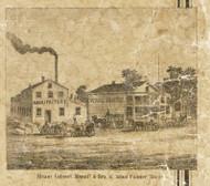 Steam Cabinet Manufactury, Romeo, Bruce & Washington, Michigan 1859 Old Town Map Custom Print - Macomb Co.