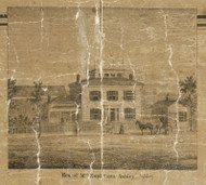 Ashley Residence, Ashley, Chesterfield, Michigan 1859 Old Town Map Custom Print - Macomb Co.