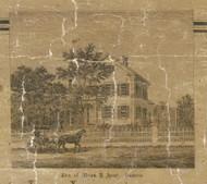 Aver Residence, Romeo, Bruce & Washington, Michigan 1859 Old Town Map Custom Print - Macomb Co.