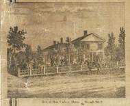 Davis Residence, Macomb, Macomb, Michigan 1859 Old Town Map Custom Print - Macomb Co.