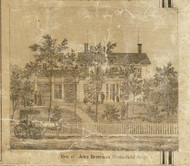 Herriman Residence, Chesterfield, Michigan 1859 Old Town Map Custom Print - Macomb Co.
