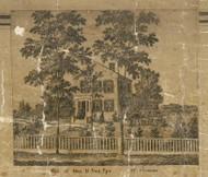 Van Eps Residence, Mt. Clemens, Clinton, Michigan 1859 Old Town Map Custom Print - Macomb Co.