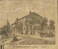 Chandler Residence & Nursery, Romeo, Bruce & Washington, Michigan 1859 Old Town Map Custom Print - Macomb Co.