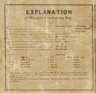 Map Key, Macomb County, Michigan 1859 Old Town Map Custom Print -