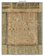 Brockway, Michigan 1859 Old Town Map Custom Print - St. Claire Co.