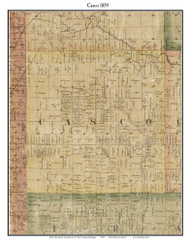 Casco, Michigan 1859 Old Town Map Custom Print - St. Claire Co.