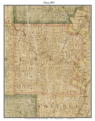 China, Michigan 1859 Old Town Map Custom Print - St. Claire Co.