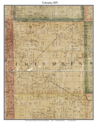 Columbus, Michigan 1859 Old Town Map Custom Print - St. Claire Co.