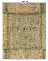 Emmet, Michigan 1859 Old Town Map Custom Print - St. Claire Co.