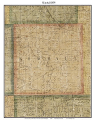 Kimball, Michigan 1859 Old Town Map Custom Print - St. Claire Co.