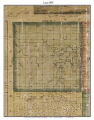 Lynn, Michigan 1859 Old Town Map Custom Print - St. Claire Co.