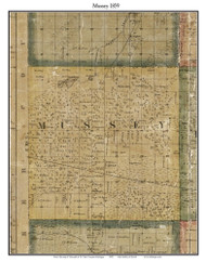 Mussey, Michigan 1859 Old Town Map Custom Print - St. Claire Co.