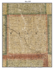 Riley, Michigan 1859 Old Town Map Custom Print - St. Claire Co.