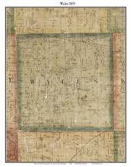 Wales, Michigan 1859 Old Town Map Custom Print - St. Claire Co.