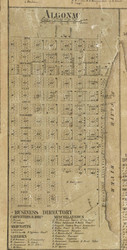 Algonac Village, Clay, Michigan 1859 Old Town Map Custom Print - St. Claire Co.