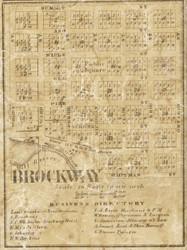 Brockway Village, Brockway, Michigan 1859 Old Town Map Custom Print - St. Claire Co.