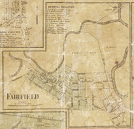 Fairfield Village, Clyde, Michigan 1859 Old Town Map Custom Print - St. Claire Co.