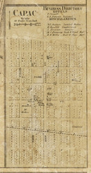 Capac, Mussey, Michigan 1859 Old Town Map Custom Print - St. Claire Co.