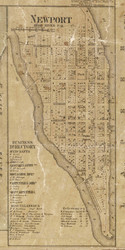 Newport Village, Cottrelville, Michigan 1859 Old Town Map Custom Print - St. Claire Co.
