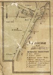 Vicksburgh, Port Huron, Michigan 1859 Old Town Map Custom Print - St. Claire Co.