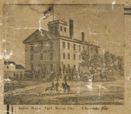 Huron House, Port Huron City, Port Huron, Michigan 1859 Old Town Map Custom Print - St. Claire Co.