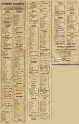 Business Directory, St. Clair County, Michigan 1859 Old Town Map Custom Print -
