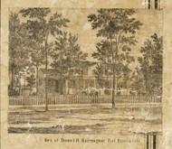 Harrington Residence, Port Huron City, Port Huron, Michigan 1859 Old Town Map Custom Print - St. Claire Co.