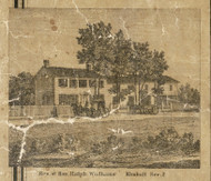 Wadhams Residence, Kimball, Michigan 1859 Old Town Map Custom Print - St. Claire Co.